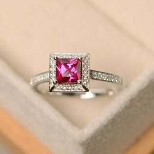 925-Sterling-Silver-Natural-Certified-3Ct-Ruby-Handmade-Engagement-Ring-For-Her