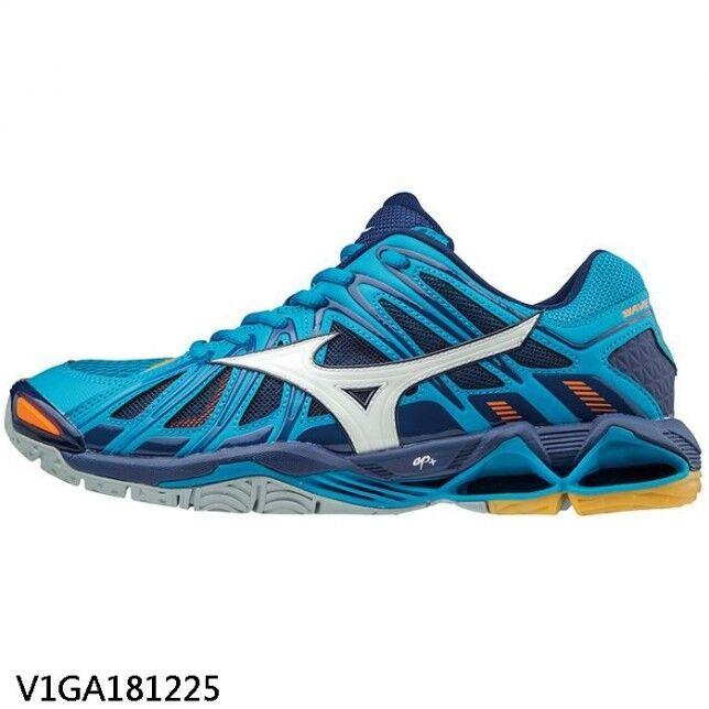 Mizuno WAVE TORNADO X2 Azul Marino Hombres blancooos para vóleibol V1GA181225