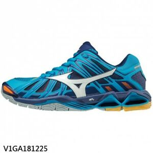 Mizuno WAVE TORNADO X2 Blue Navy White Men Volleyball Shoes ... d28652ac9c073