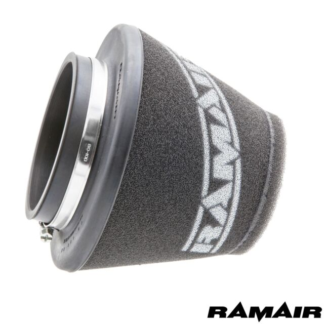 RAMAIR INTAKE FOAM CONE AIR FILTER UNIVERSAL SHORT 90mm ID Neck MADE IN THE UK