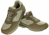 Mens Grey Leather Trainers Casual Sports Running Shoes Size 6 7 8 9 10 11 12