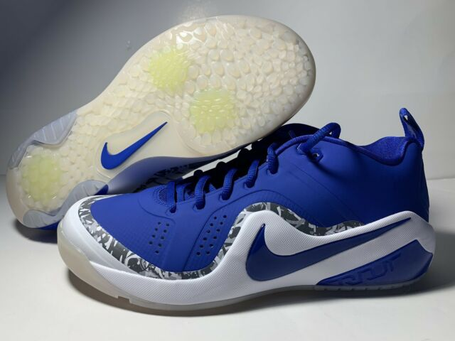 d9fd1fa9 Nike Zoom Force Mike Trout 4 Turf Baseball Shoes Blue White 917838 144 Size  9.5