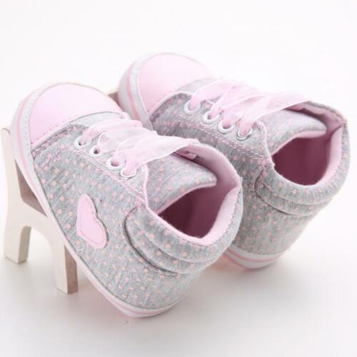 Infant Toddler Baby Kid Boy Girl Soft Sole Crib Shoes Sneaker Newborn to 18M