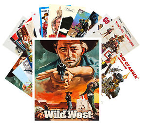 postcards pack 24 cards wild west cowboys vintage western movie