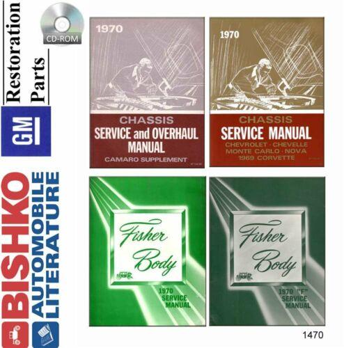 OEM Repair Maintenance Shop Manual CD Chevy All Models /& Fisher Body 1970