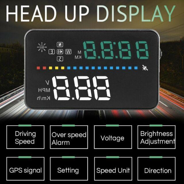Universal GPS HUD Digital Head Up Display Car Speedometer Speed Warning Alarm Na