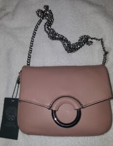 65c0f58a532d NWT Vince Camuto Women Adina Small Chain Leather Crossbody Vintage ...
