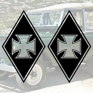 xxl aufkleber set raute eisernes kreuz iron cross truck. Black Bedroom Furniture Sets. Home Design Ideas