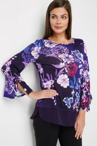 NEW Roman Original Floral 3//4 Sleeve Summer Party Top Blouse Size 10 £30.00