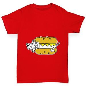 Twisted-Envy-Boy-039-s-Hot-Dog-Drole-T-shirt-en-coton