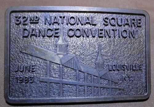 32ND National Square Dance Convention Belt Buckle 1983 Vintage Western Wear Tooled Design Gift Idea Western Man Unisex