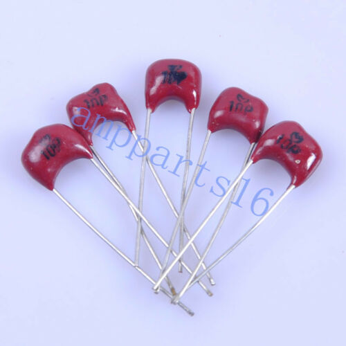 Details about  /20pcs Sliver MICA Radial Capacitor 10pF 500V  New Amp Red