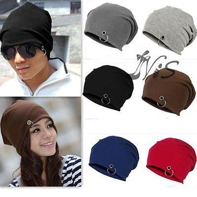 Unisex Women Men Beanie Soft Knit Slouch Oversize Crochet Baggy Cotton Hat Cap