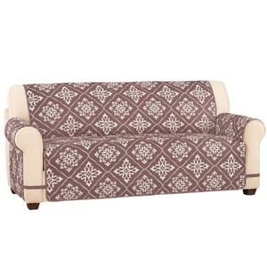 Surprising Details About Reversible Diamond Pattern Ultra Quilted Furniture Cover Taupe Sofa Machost Co Dining Chair Design Ideas Machostcouk