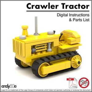INSTRUCTIONS for Custom Lego Combine Harvester I Town City Farm Tractor Model
