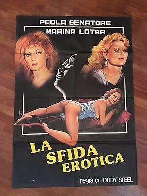 Paola senatore porno Manifesto Marina Lotar Paola Senatore Steel La Sfida Erotica Erotico Sexy Hard Ebay