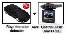 360 Degree Car Speed Radar Protection + Get Dash Cam FREE (BLACK)