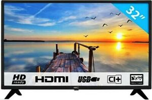 TV 32 Pollici LED HD DVB T2/S2 3HDMI 2USB SKART VGA CUFFIA H.265 CI+ GAR 2ITALIA
