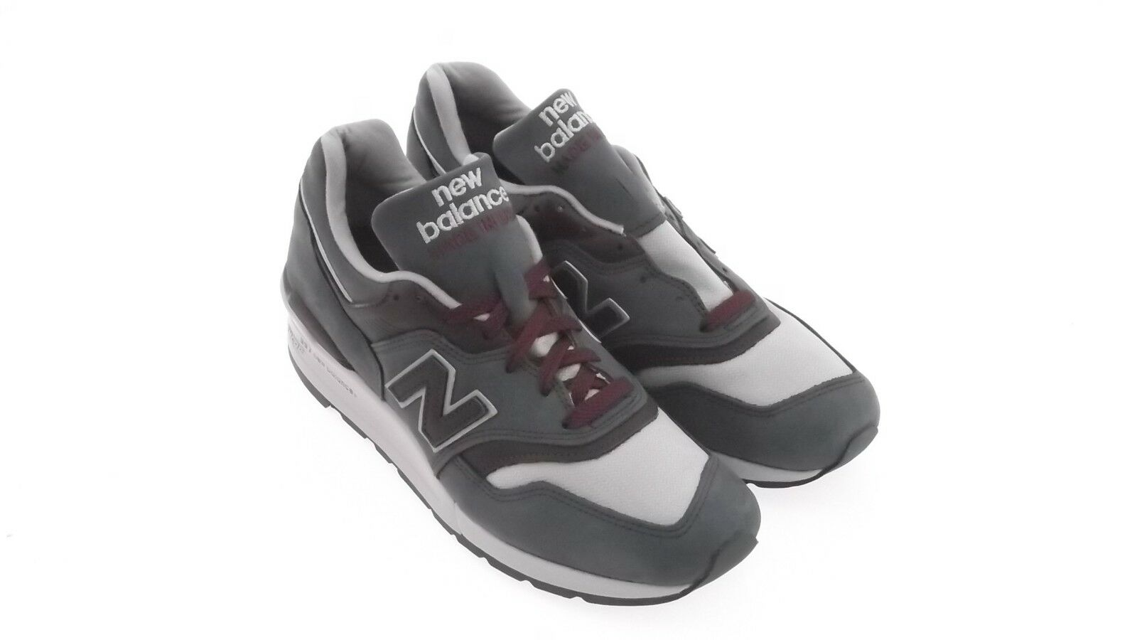 New Balance Men M997DGM - Made In USA - Horween Leather (gray / maroon) M997DGM