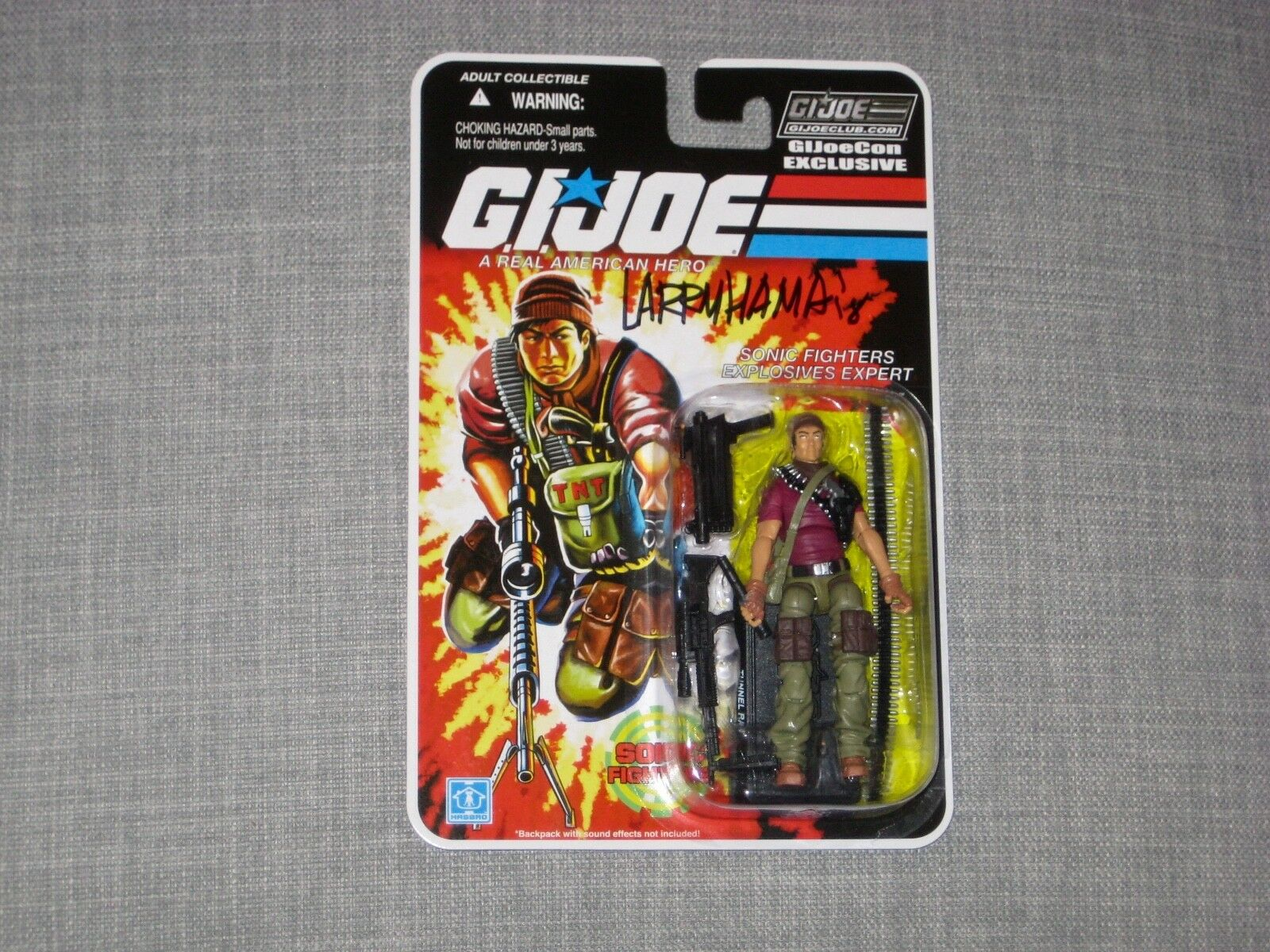 G.I. Joe 2018 JoeCon Exclusive TUNNEL RAT Sonic Fighters MOC w/ Larry Hama auto