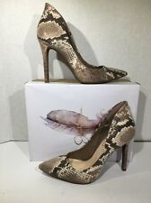 Jessica Simpson Women's Size 7.5 Cambredge Taupe Snake Dress Shoes Heels SS-1106