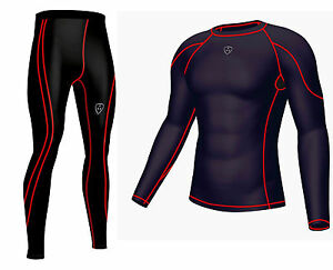 Dhera Men's Compression couche de base top peau Fit & Compression Leggings Running-afficher le titre d`origine I6QhzuGH-07160916-594553486