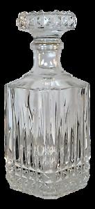 Vintage-Crystal-Glass-Decanter-Liquor-Whiskey-HEAVY-Sparkling-Wedding-Gift-Bar