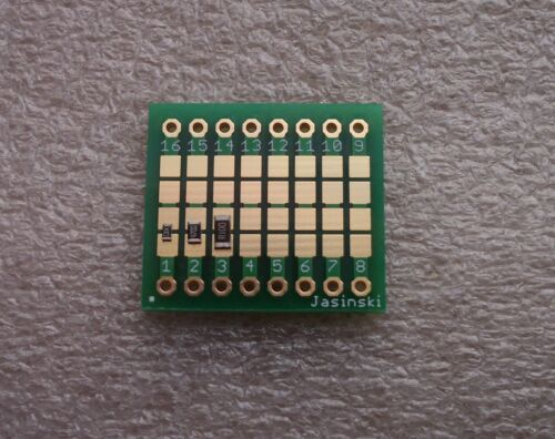 0.9 V1.0 FR4 3x Adapterplatine 1206 Länge 16 auf Raster 2,54mm ENIG