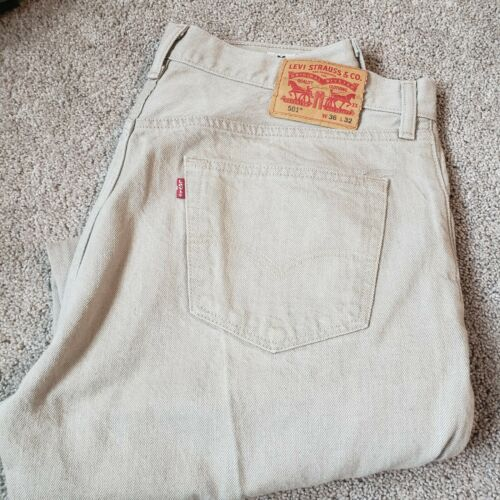 Levi's 501 Brown Cone Mille White Oak Denim Actual
