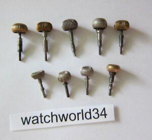 Lot-of-Vintage-pocket-watch-Crown-amp-Stem-watchmaker-parts-repair