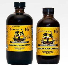 Sunny-Isle-Negro-Aceite-de-Ricino-para-Crecimiento-capilar-amp-Tratamiento-114ml