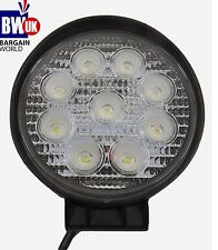 27w 9 LED Driving Work Light Flood Lamp Offroad Trailer SUV ATV Jeep 4x4 Round