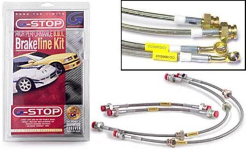 Goodridge CLG Braided Brake Hoses fit for d Escort RS Turbo  1984-1990