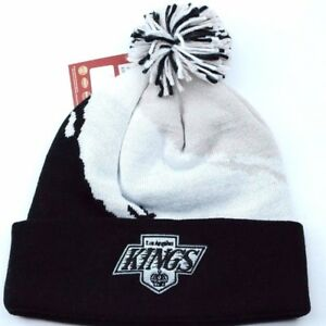 14251c1c Details about Los Angeles LA Kings Mitchell & Ness Splash Pom NHL Hockey  Knit Winter Hat Cap