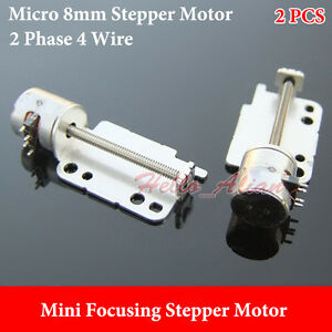 BANDTILE2pcs Micro 8mm 2-phase 4-wire Stepper Motor Miniature Screw shaft Mount Hole