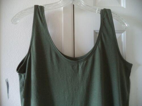 Basic Old Navy Olive Green Scoop Neck Jersey Knit Tank Top 2X 1X M L XL XXL Tall