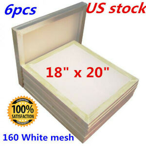 6 Pack 20x24 Screen Printing Frame with 110 White MESH