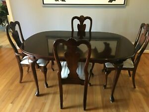 Queen Anne Cherry Furniture By American Drew Dining And Living Room Great Cond Ebay
