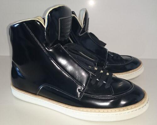 Eco Pelle Sneakers Margiela Martin 43 Con Nero Zip Maison Taglia Lucido Laterale pxqFtnEpw