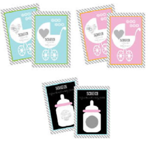 Baby Shower Games Set of 12 Pink Baby Carriage Scratch Off Game Cards Pink Baby Shower Games