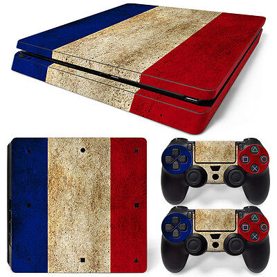 Realistic Sony Ps4 Playstation 4 Slim Skin Sticker Screen Protector Set Video Games & Consoles France Motif