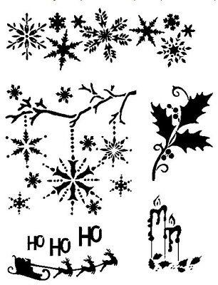 STENCILS CRAFTS TEMPLATES SCRAPBOOKING CHRISTMAS STENCIL 1 A4 MYLAR