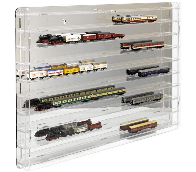 Sora modelo ferroviario vitrina pista n con verspiegelter panel posterior
