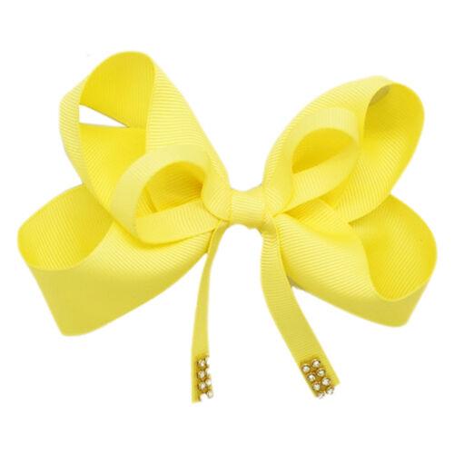 Hair Clip with Ribbon Bow /& Diamante Studs