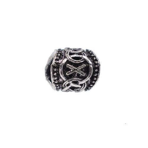 Norse Viking Runes Bead for Beard Hair Bracelet Necklace DIY Jewelry Making 1pc