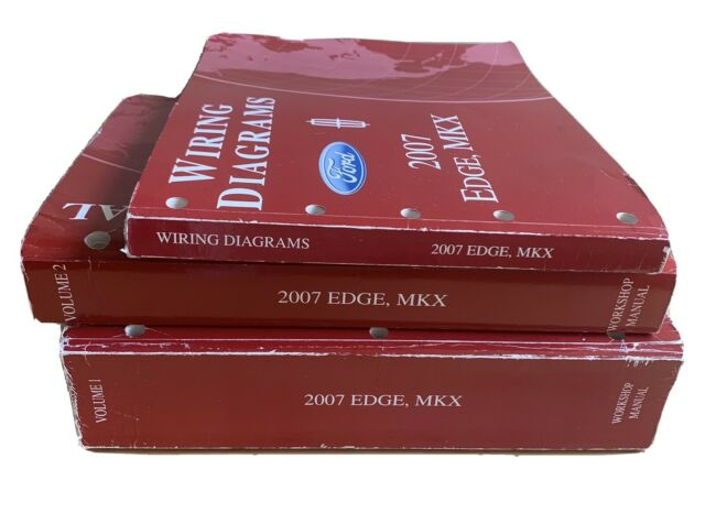2007 Ford Edge Lincoln Mkx Factory Repair Shop Manual Set