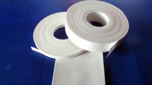 Filzklebeband creme-weiß Kantenschutz 5m lang 1,3mm dick 7-31mm breit BAW
