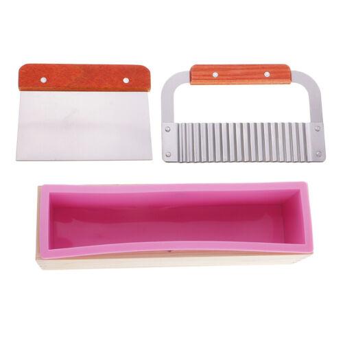 Seifenformen mit einem 3 Stück Holzkiste Seifen Silikonform Set