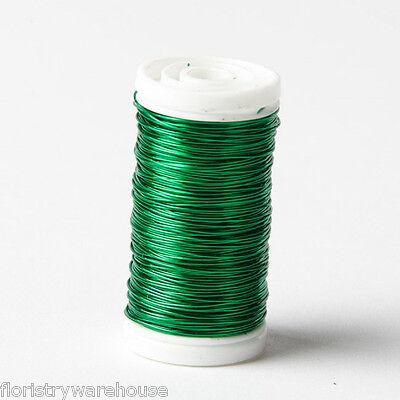 Metallic Wire reel floristry craft jewellery Dark Green