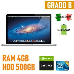 PC Apple Macbook Pro MID2009 A1286 Intel 2DUO 4GB HDD 500GB Notebook Laptop
